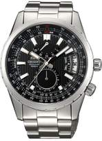 Orient #DH01002B Men's Voyager Stainless Steel Dial Dual Time Power Reserve Automatic Watch
