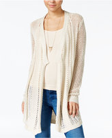 Jessica Simpson Cotton Pointelle Open-Front Cardigan