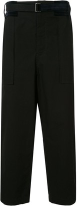 Sacai Belted Wide Leg Trousers