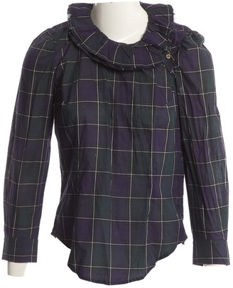 Etoile Isabel Marant Green Cotton Top for Women