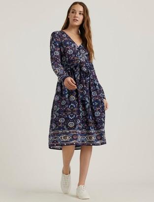 Lucky Brand Florence Border Print Dress