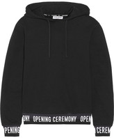 Opening Ceremony Cotton-jersey Hooded Top - Black