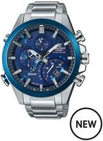 Casio Casio Edifice Bright Blue Chronograph Dial Stainless Steel Bracelet Mens Watch