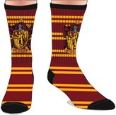 Bioworld Harry Potter House of Gryffindor Men's Crew Socks Burgundy N' Yellow Wizard