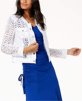 INC International Concepts I.n.c. Sheer Lace Jacket, Created for Macy's