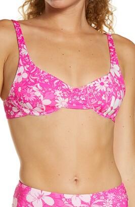 Frankie's Bikinis Jay Floral Underwire Bikini Top