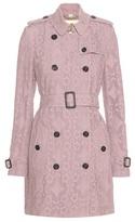 Burberry Kensington Gabardine Lace Trench Coat