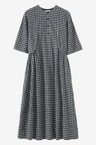 Toast Seersucker Check Wool Dress