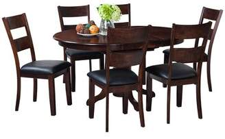 Darby Home Co Maryrose 7 Piece Solid Wood Dining Set with Butterfly Leaf Table Darby Home Co
