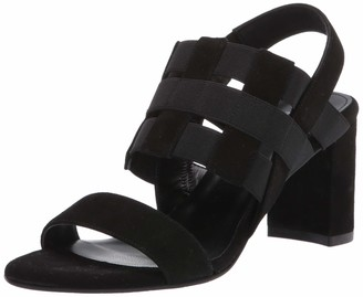 Aquatalia Sydney Suede and Elastic Sandal Black