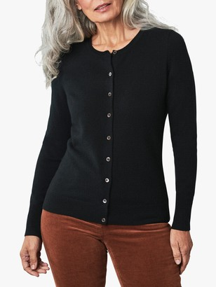 Pure Collection Cashmere Crew Neck Cardigan