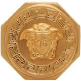 Versace Gold Octagonal Medusa Ring