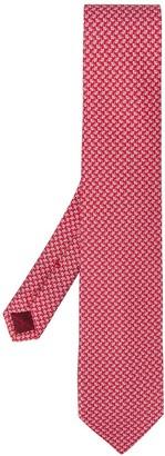 Salvatore Ferragamo Clover Leaf Print Silk Tie