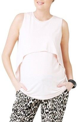 Ripe Summer Swing Back Nursing Tank Pale