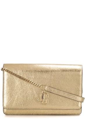 Jimmy Choo Varenne metallic clutch bag
