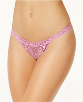 Natori Feathers Embroidered Thong 750023