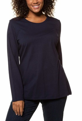 Ulla Popken Women's Nkfritalina Sl Dress Camp Long Sleeve Top