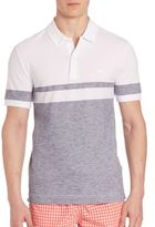Lacoste Striped Heathered Pique Polo