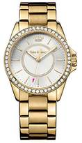 Juicy Couture Womens Quartz Watch, Analogue Classic Display and Gold Plated Strap 1901409