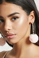 Forever 21 FOREVER 21+ Pom Pom Duster Earrings