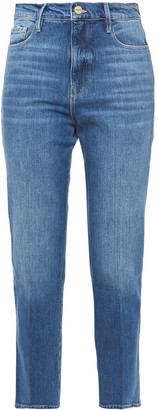 Frame Le Sylvie Cropped Faded High-rise Slim-leg Jeans