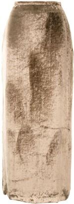 Sulvam Velvet Maxi Skirt