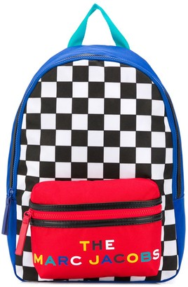 The Marc Jacobs Kids Color-Block Checkered Backpack