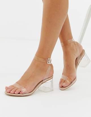 2 inch clear heels cheap online