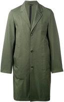 Stutterheim single breasted coat - men - Cotton/Polyurethane - S