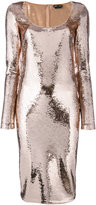 Tom Ford sequinned fitted dress - women - Plastic/Polyamide/Spandex/Elastane - 38