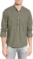 Michael Bastian Men's Gingham Band Collar Sport Shirt