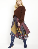 ELOQUII Handkerchief Hem Skirt