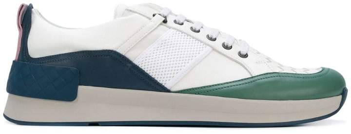 Bottega Veneta multicolour calf bianco fabric grand sneaker