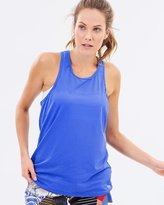 Running Bare Baseline High Neck Workout Tank with Samurai Slit