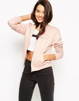 Asos The Bomber Jacket In Jersey