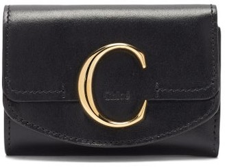 Chloé The C Logo Leather Wallet - Black