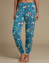 Marks and Spencer Floral Print Cuffed Hem Pyjama Bottoms