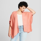 Universal Thread Women' Plu ize Jacquard Ruana Kimono Jacket - Univeral Thread Coral