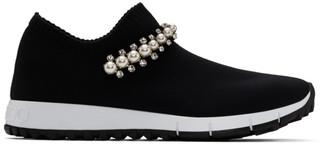 Jimmy Choo Black Crystal and Pearl Verona Sneakers