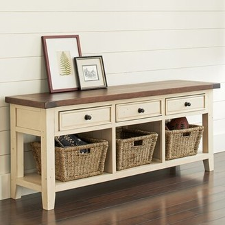 Birch Lane Whitaker Wood Storage Bench Heritage Color: Country White/Oxford