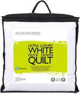 Accessorize 400GSM Duck Feather & Down Quilt, Queen