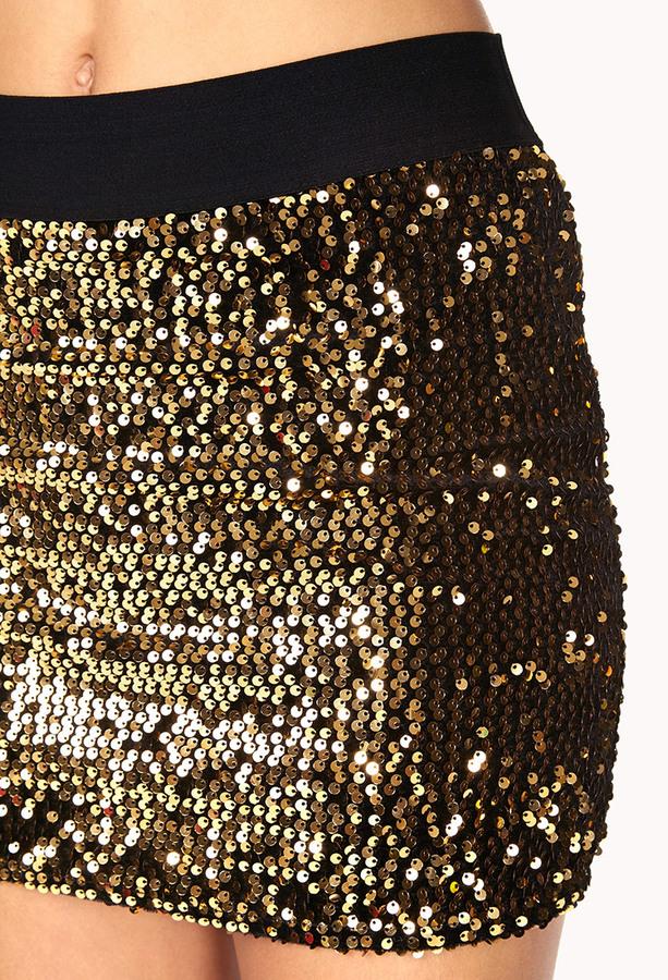 Forever 21 Showstopper Sequined Mini Skirt