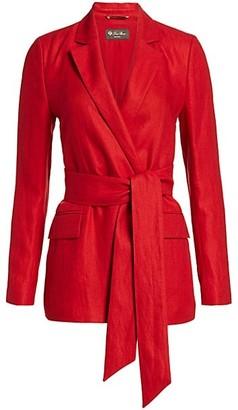 Loro Piana Clare Antigua Linen Jacket