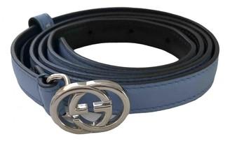 Gucci Blue Leather Belts