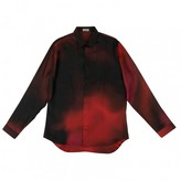 Dior Homme Red Silk Shirts