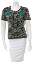 Alberta Ferretti Knit Short Sleeve Top w/ Tags