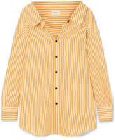 Simon Miller Tabor Oversized Striped Cotton-poplin Shirt - Yellow