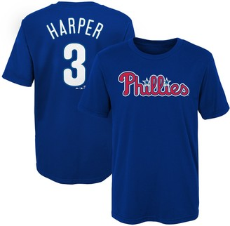 Majestic Youth Bryce Harper Royal Philadelphia Phillies Name & Number T-Shirt