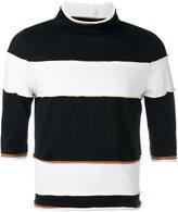 Telfar striped mock-neck top - men - Cotton - XL