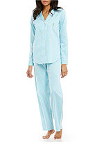 Lauren Ralph Lauren Striped Sateen Classic Pajamas